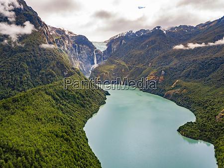 aerial view of rio ventisqueros in