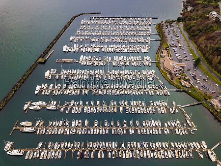 aerial view of boats in smith
