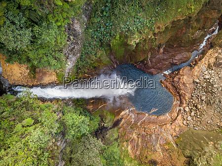 aerial view of catarata del toro
