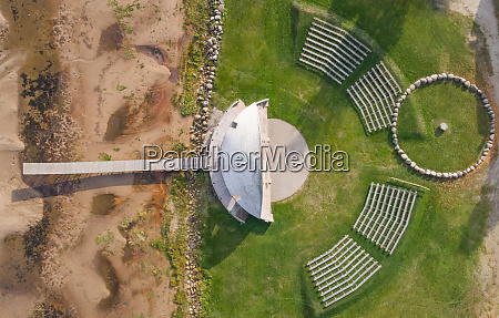 aerial view of outdoor amphitheater near