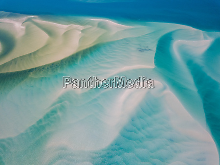 aerial abstract view of shoals off