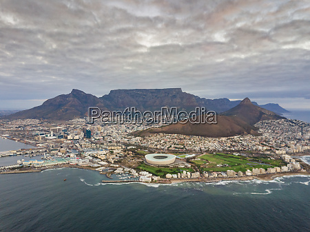 aerial panoramic view of mouille point
