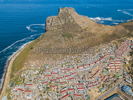 aerial panoramic view of hout bay