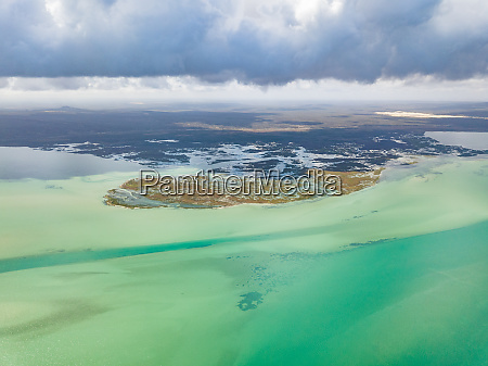 aerial panoramic view of west coast