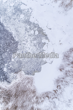 abstract aerial view of frozen sea