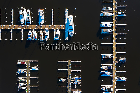 aerial view of yachts and sail