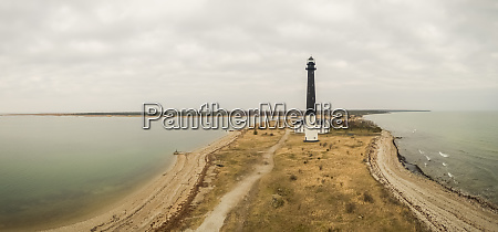 panoramic aerial view of lighthouse at