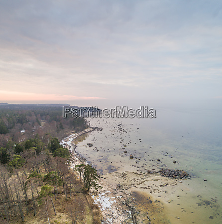 aerial view of coastline at muraste