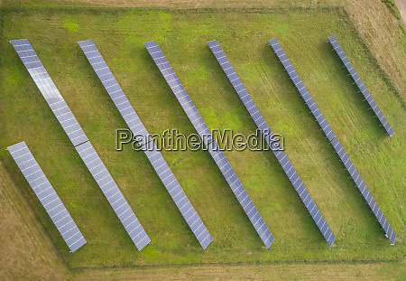 aerial view of small solar panel