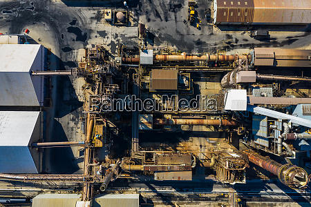aerial view of a petro chemical