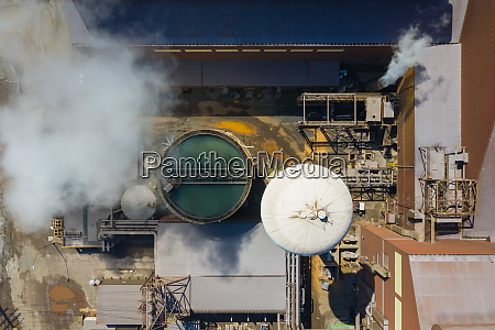 aerial view of a steel production