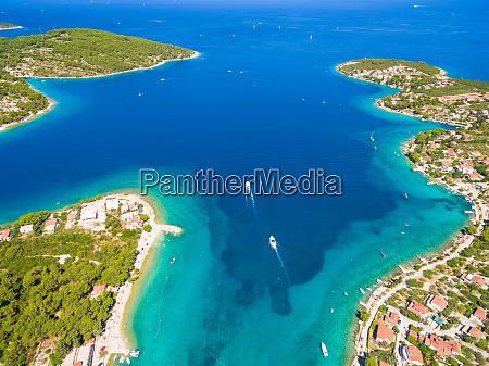 aerial view of solta island bays