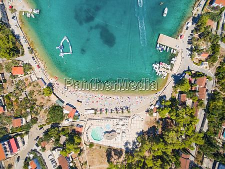 aerial view of housing estate and