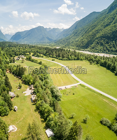 aerial view of tents in eco