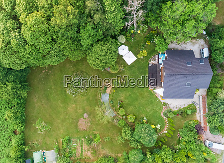 aerial view of private residential home