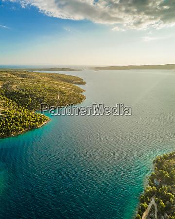 aerial panoramic view of adriatic sea