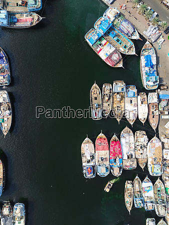 aerial view of the dubai dhow