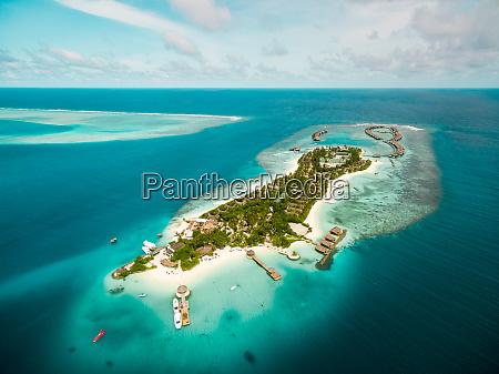 aerial view of amazing bungalow resort