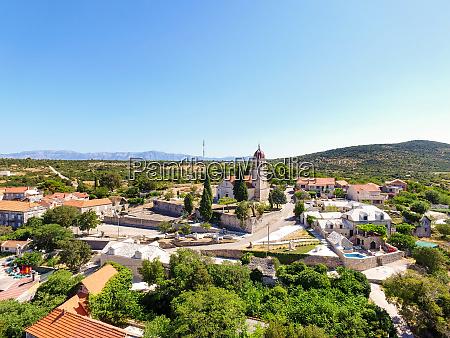 aerial view saint ann parish church