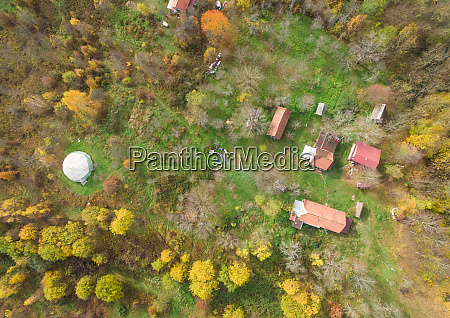 aerial view of blatusa eco village