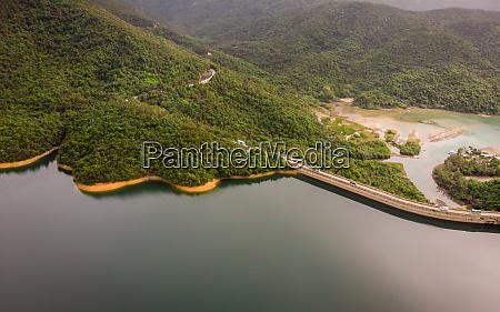 aerial view of tai tam tuk