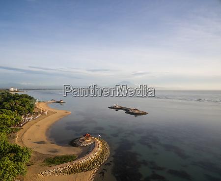 aerial panoramic view of man made