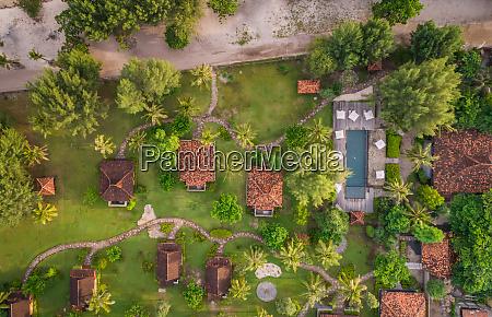 aerial view of desa dunia beda