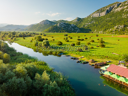 aerial view of dodosi lake skadar