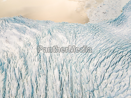aerial view of vatnajoekull water glacier