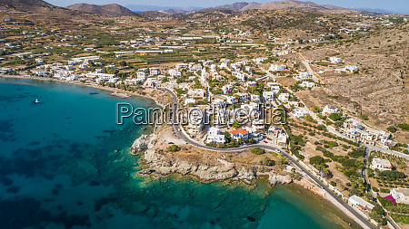 aerial view of a village on