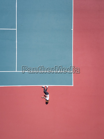 aerial concept of a person on