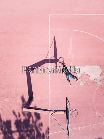 aerial concept of a player on