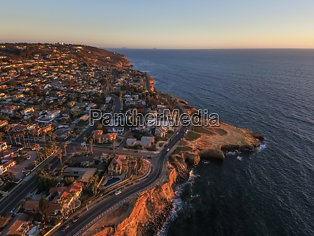 aerial view of san diego coastline
