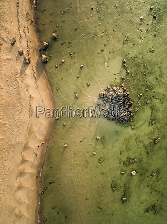 abstract aerial view of stones in
