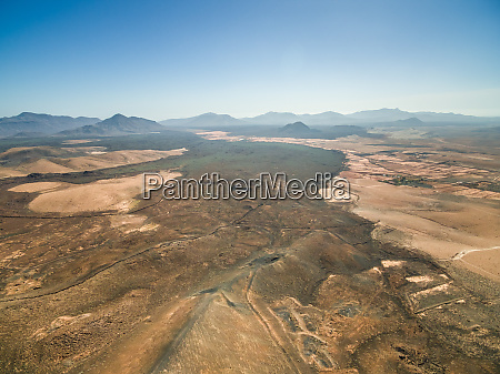 aerial view of arid landscapes of