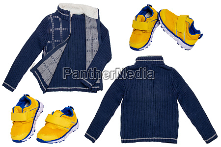 collage set of children clothes a