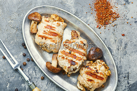 chicken cutlet with mushrooms