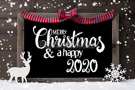 chalkboard decoration snowflakes deer merry christmas