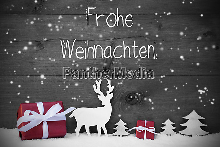 reindeer gift tree snowflakes frohe weihnachten
