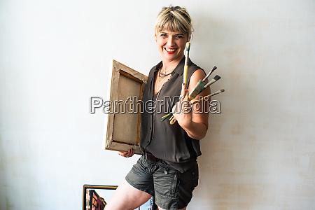 portrait of fine art painter with