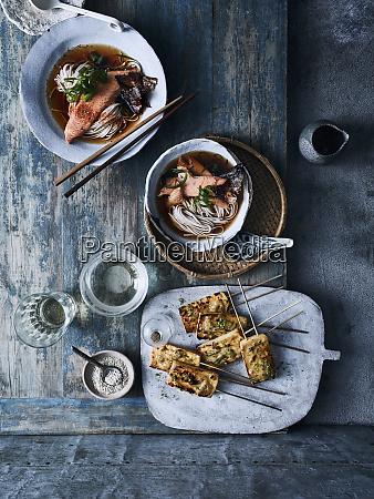 grilled tofu caramelised yuzu miso and