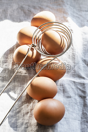 still life of eggs and kitchen