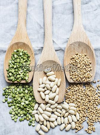 still life of three wooden spoons