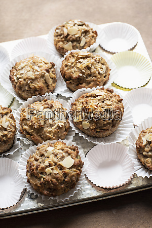 still life of wholemeal muffins and