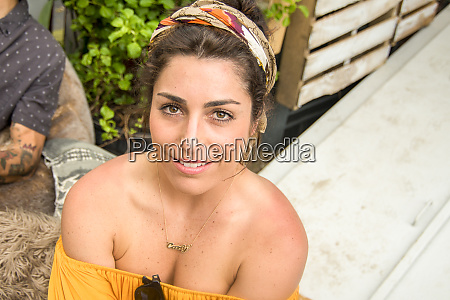 young woman in off the shoulder