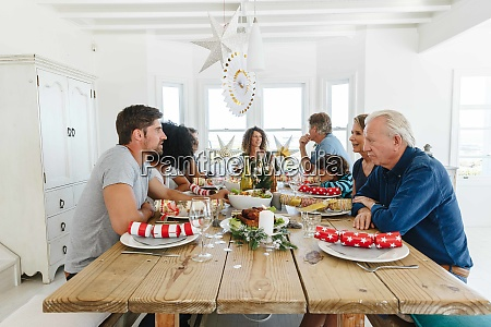 family talking and bonding at home