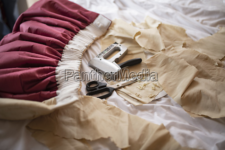 still life of curtain fitters tools