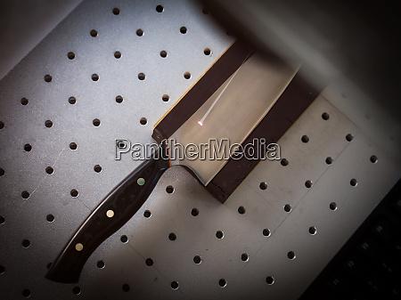 knife under laser cutting equipment in
