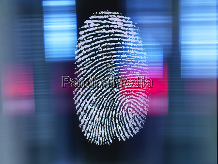 finger print on digital screen being