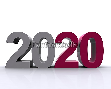 2020 colored writing in 3d